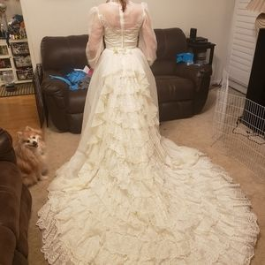Vintage wedding dress Union made.